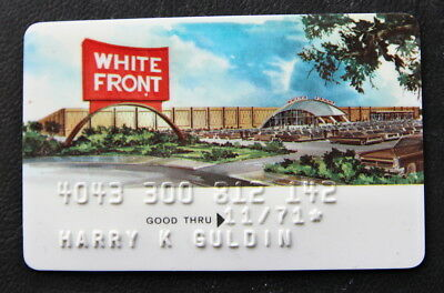 White Front Stores 1971 Vintage Rare Credit Card