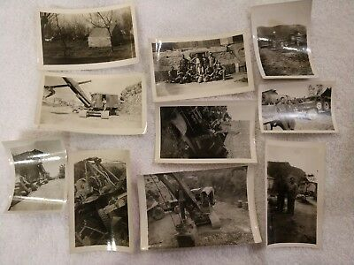 Vintage WW2 original photos of service members and military vehicles