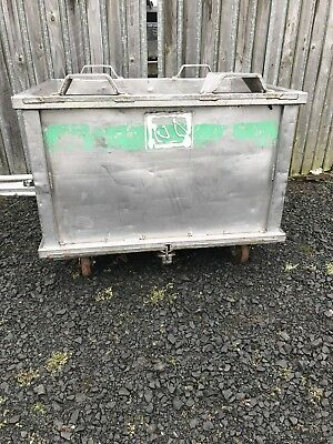 forklift tipping skip stainless steel