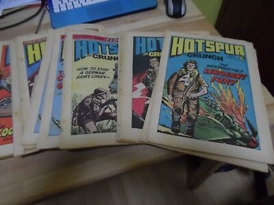 Hotspur comics 1974 onwards - over 250 issues