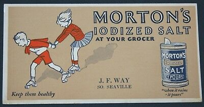 Morton's Salt Blotter, J.F. Way, South Seaville, NJ