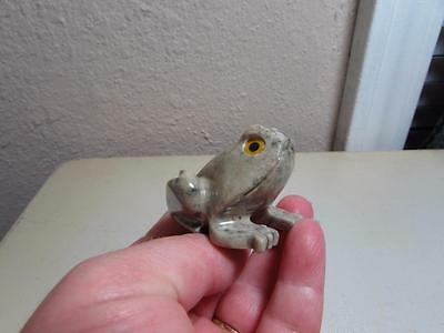 Frog or Toad, Hand carved Marble from the Andes Rich Colored Stone Unique