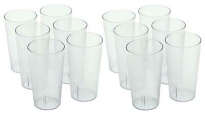 16oz Clear Plastic Stackable Tumbler Restaurant Beverage cup, 1 dozen Pack of 12
