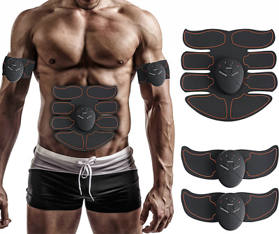 Muscle Toner, Abdominal Toning Belt, EMS ABS Trainer Wireless Body Gym Workout H