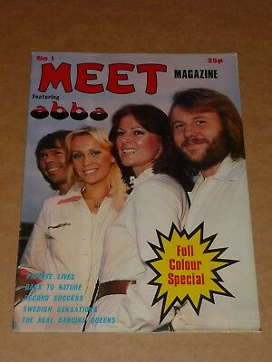 Abba 1977 Meet No.1 Poster Magazine