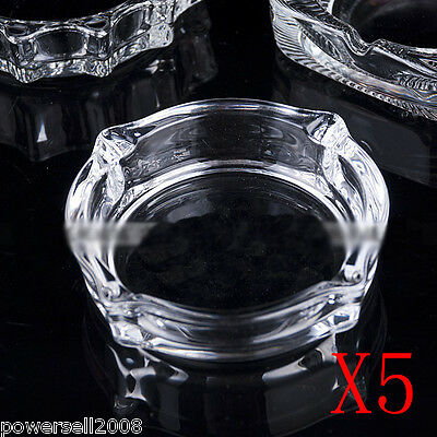 5X Contracted Fashion Transparent Crystal Glass Household Hotel Use Ashtray NN