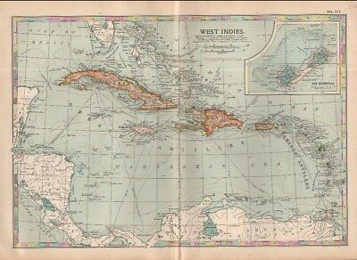 1902 map of the West Indies