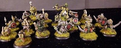 28mm Orc Warband with Trolls pre slotta