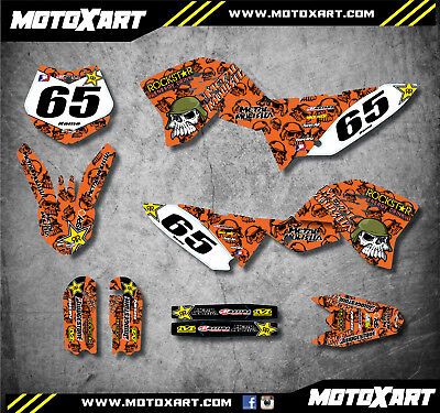 Full Custom Graphics Kit to fit KTM 65 2009 - 2015 METAL Style stickers decals