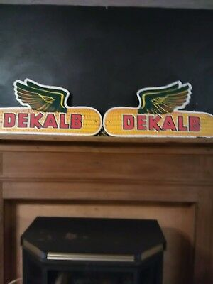 "DeKalb Corn Signs. In good condition. 31""x16"". They are from the 70's-80's."