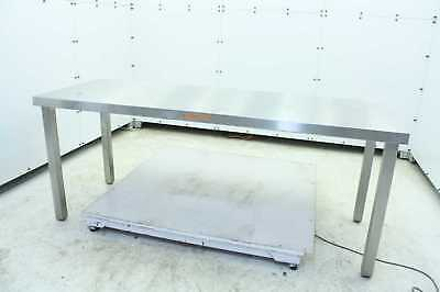 Clean Air Products Stainless Steel / Clean Room Table Workstation 72 X 26 X 29""