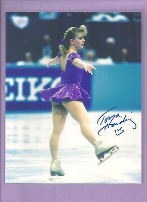Autographed 8'' X 10'' photo of Olympic figure skater Tonya Harding with C.O.A.