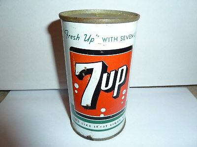 7 up flat top can - Nice shape - St. Louis