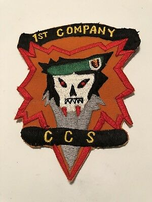 US Army 5th Special Forces MACV-SOC CCS Shell Burst Vietnam Patch 1st Co. Slam