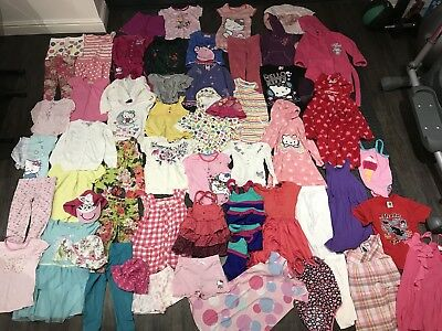 Large Bundle Of Girls' Clothes, Next, M&S, Hello Kitty etc, Age 4-5 Years
