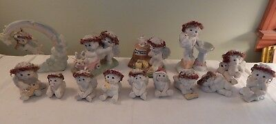Lot of 13 Dreamsicles Cherubs Kristin 1996 thru 2000 Puppy Cloud Friends Blessin