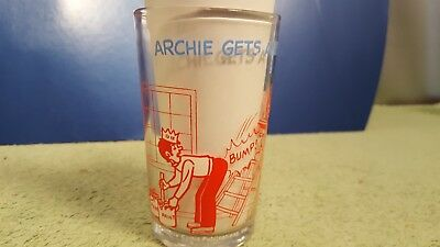 Vintage Jughead Jelly Jar Glass Cup Archie Gets A Helping Hand 1973 Great Colors