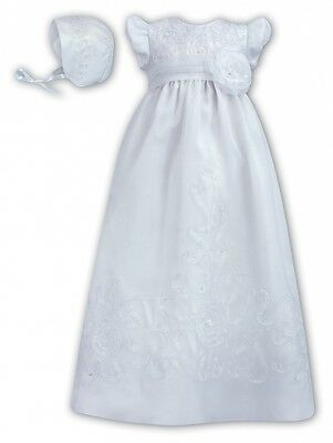 RRP £100 NEW Sarah Louise Christening Gown White 12 Months -Free £10 Dress bag