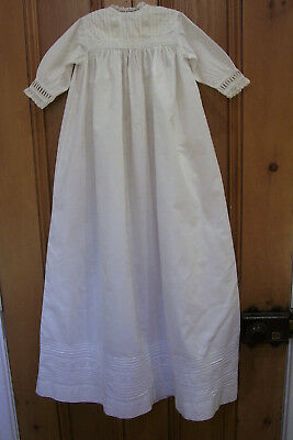 Antique white cotton baby gown / dress Suitable for Christening or large doll