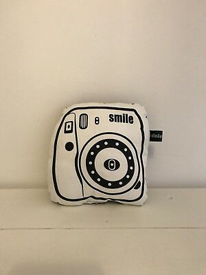 monochrome baby (nursery) black/white soft toy camera with bell inside