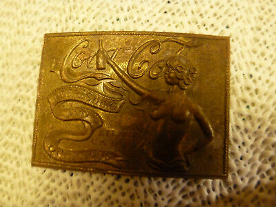 Rare - Solid Brass - Small Coca Cola Belt Buckle