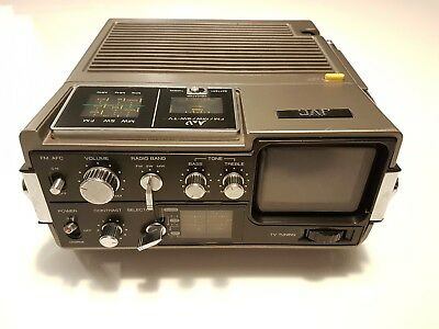 JVC 3050UK Retro portable TV and Radio in great working condition very rare 1976