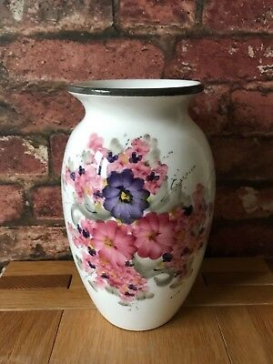 "Fabulous Rare 1926 Wemyss Ware Fife Pottery Floral Anemone 9"" Baluster Vase"