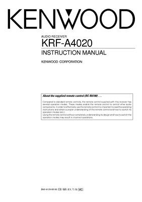 KENWOOD DPX-440 RECEIVER Owners Instruction Manual - $19 99