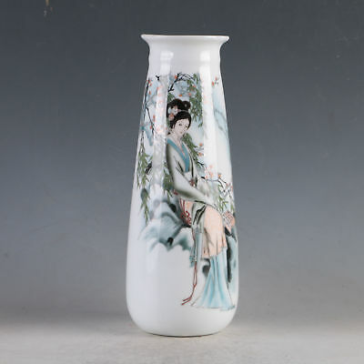 China Porcelain Hand-Painted Beauty Vase Made During The Daqing Qianlong HP0113