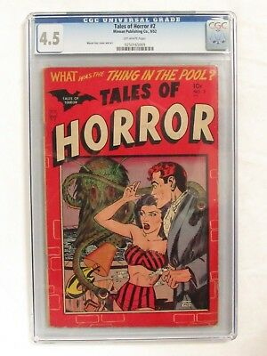 Tales of Horror #2 (1952) CGC 4.5 Golden Age Minoan Publishing Co. EH214