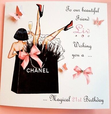 Personalised Handmade Birthday Card 21st 18th 40th Daughter Niece Sister Friend