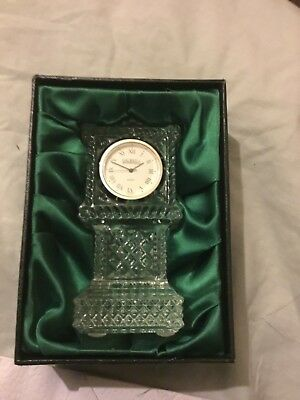 Gorgeous Authentic Galway Irish 24% Lead Crystal Clock