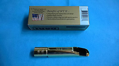 Bari (USA) WTII Premium Gold Plated Metal Tenor Saxophone Mouthpiece