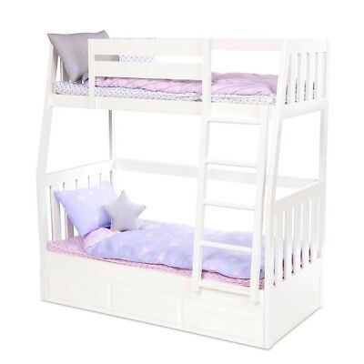 Doll Bunk Bed Ladder Fits 18 American Girl Dolls White Bedding