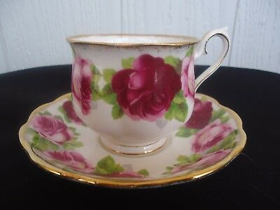 vintage royal albert cup & saucer old english rose