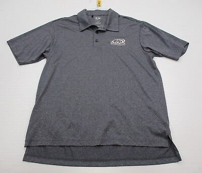 ADIDAS #T3923 Men's Size M Athletic GOLF CLIMALITE Short Sleeve Gray Polo Shirt