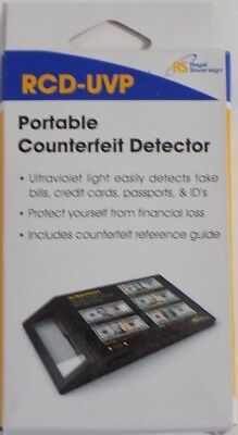 New Royal Sovereign RCD-UVP Portable Counterfeit Detector Small Business Money