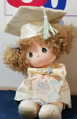 Nwt Vintage Precious Moments Musicals Doll - Gwen #5750 -Head Sways To Tune 1986