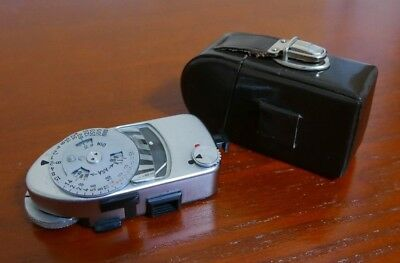 Leica Leicameter MR Chrome Shoe Mount Light Meter working and calibrated