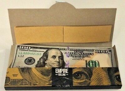 Empire Rolling Papers 1 Pack 10 Count $100 Bill Rolling Papers **Free Shipping**