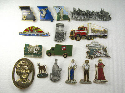 Lot of 16 Vintage Missouri Jaycees Trading Pins All Different Some Beer