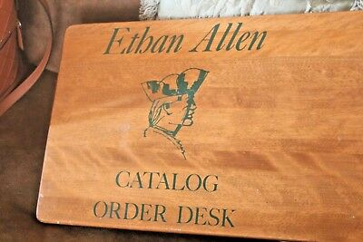 Vintage Ethan Allen Furniture wood catalog order desk vintage advertising