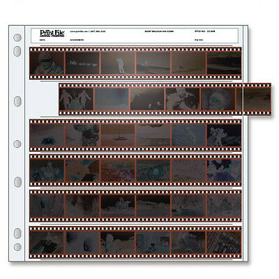 50x PRINT FILE 35mm 135 Negative Pages Sleeves Film Archival Preservers 35-6HB i