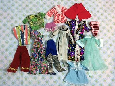 Vtg Barbie Doll Clothes Dresses Pants Shirts Robe Retro Flawed 60s Collectible