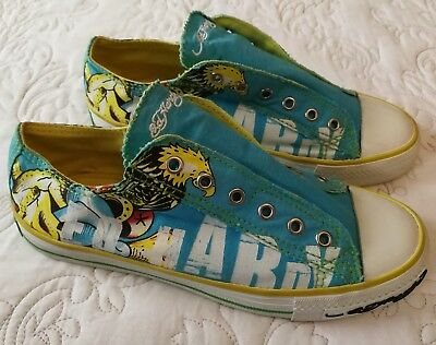 Ed Hardy Canvas Shoes Size 37