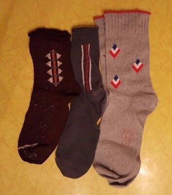 Lot of 9 Pairs of Vintage 1950's and 1960's Boys Socks - For Crafts