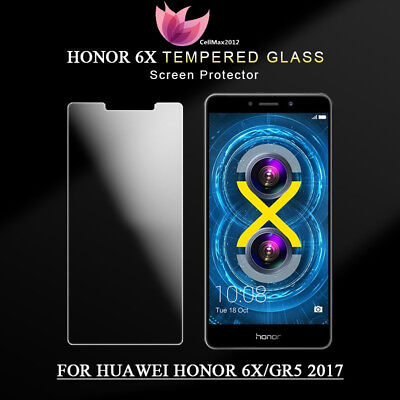9H+ Premium Tempered Glass Screen Protector Clear Film for Huawei Honor 6X