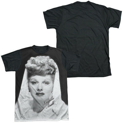 348e9261 I Love Lucy Lucille Ball GLAMOUROUS 1-Sided Big Print Black Back Poly T-