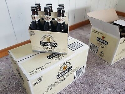 Guinness 250 Beer Case. Collectable. Rare. Stout. Anniversary. Man-Cave