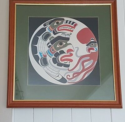 Professionally Framed Native  American Print Wall Hanging.